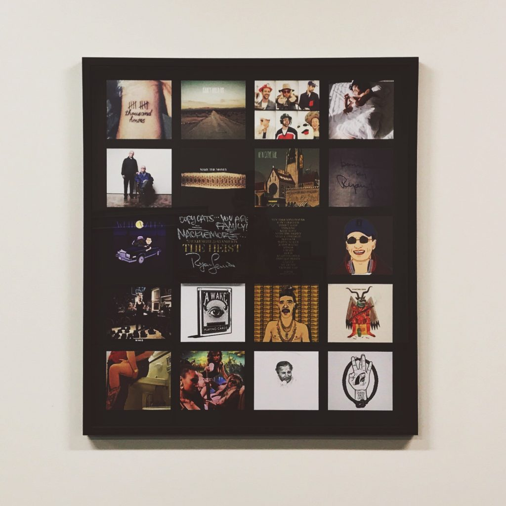 Macklemore Ryan Lewis The Heist framed custom packaging