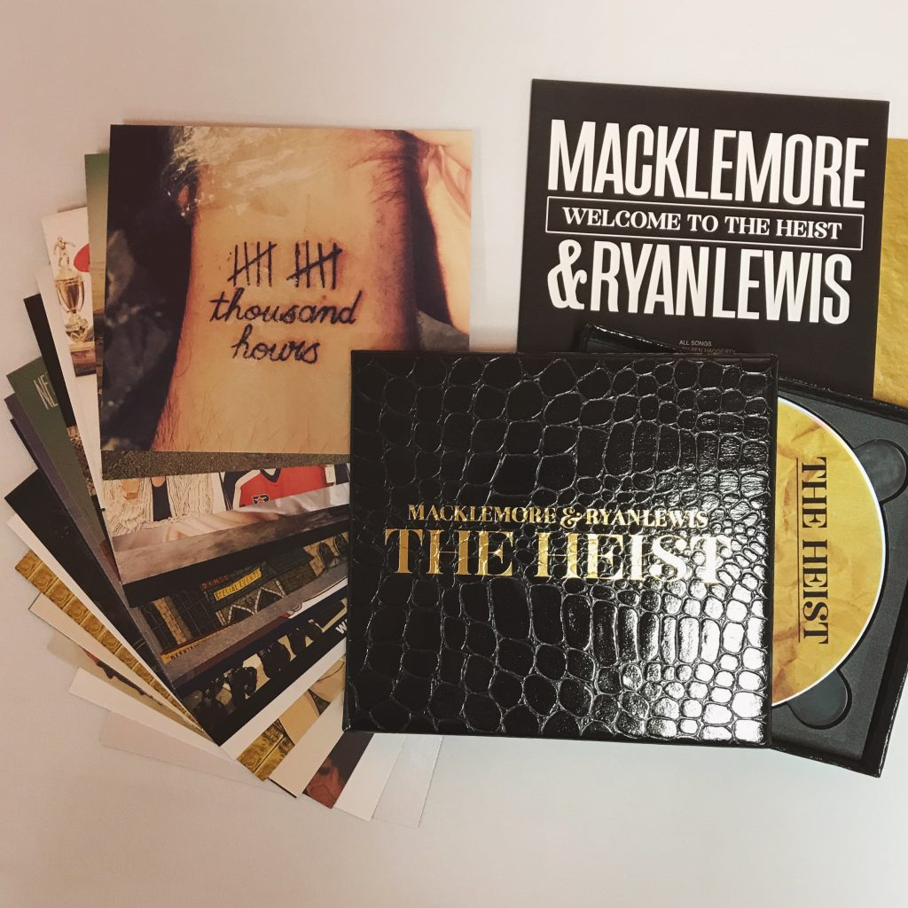 Macklemore and Ryan Lewis The Heist packaging box